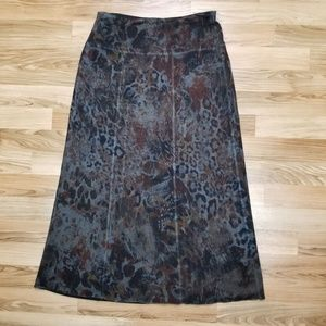 Nally & Millie Reversible Skirt Floral and Black